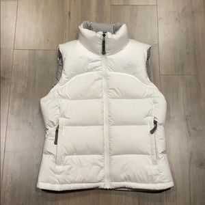 North face vest - white - xs